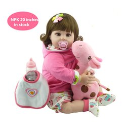 """Wholesale cheap silicone doll - New cheap 20 """"adora baby doll reborn lifelike live baby girl child doll kid silicone girl toys for children gifts"""