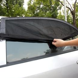 2 UNIDS Ajustable Ajustable Auto Car Rear Side Window Sun Shade Malla Negro Cubierta Del Coche Visor Shield Sombrilla Protección UV desde fabricantes