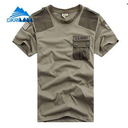 2020 xxl camping hiking t shirts New Mens Verão Lazer Esporte Tático de Combate T Shirt de Manga Curta Escalada Caminhadas T-shirt Dos Homens O-pescoço de Fitness T-shirt xxl camping hiking t shirts barato