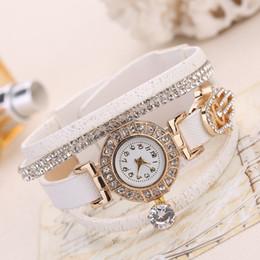 Canada Mode Cuir Tressé Bracelets Cristal Strass Palm Bracelets Quartz Femmes Montre au poignet exquis Bijoux Dropshipping supplier exquisite watches Offre