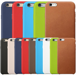 Wholesale Leather Case Iphone 5s - Original Official Leather Case Business Retro Style Business PU Shock Microfiber Hard Cushion Cover Case for Apple iPhone X 8 Plus 7 6 6S 5S