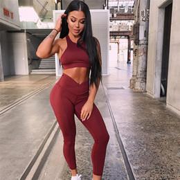 9a18f05650b PENERAN 2018 New Jogging Sport Suit Woman Sportswear Gym Fitness Sport  Outfit Red Dry Fit Leggings Bra Kits Women Tracksuit S M