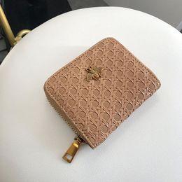 Billetera moleteada online-banabanma Mujeres billetera moda suave cuero de la PU 2 doblez billetera corta clásico bolso de nudo de la mano Monedero carteras y monederos ZK30