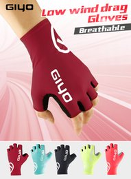 Wholesale half fingered gloves - GIYO Anti Slip Gel Pad Bicycle Gloves Gel Pad Short Half Finger Cycling Gloves Breathable Outdoor Sports Men MTB Bikes Gloves