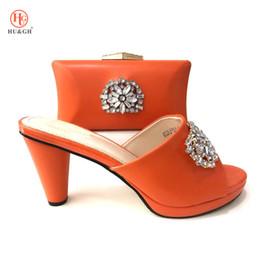 852cea1fe3 Neue Ankunft afrikanische Schuh und Tasche Set hochwertige italienische  Schuhe mit passenden Taschen orange Farbe afrikanische Schuhe und passende  Taschen