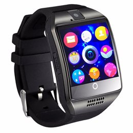 Sincronizzazione smart phone online-Bluetooth Smart Watch Q18 Supporto SIM GSM Fotocamera Facebook Whatsapp Sync SMS MP3 TF Card per IOS Android Phone