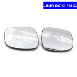 Para BMW E87 X1 F25 X3 Lateral Do Carro Espelho Retrovisor Convexo Vidro Auto Side Aquecida Asa Espelho de Vidro 51162991659/51162991660 de
