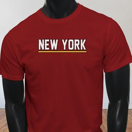Argentina State City Ca Us Support Dropship Empire New York Vacation Orgulloso para hombre Camiseta roja Camisetas Hombre de manga corta casual personalizado Custom 3XL Suministro