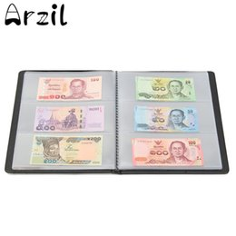Wholesale Folding Book Holder - 60 Money Albums Book Storage Money Paper Collections Banknotes Albums Collections Holders Collector Gifts