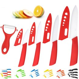 """Wholesale chinese ceramic knives - Brand top quality kitchen knife ceramic knife 3"""" 4"""" 5"""" 6"""" inch + peeler + Transparent Acrylic Stand kitchen set"""
