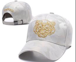2018 Tasarımcı Mens Beyzbol Kapaklar Yeni Marka Kaplan Kafası Şapka Altın Işlemeli kemik Erkekler Kadınlar casquette Güneş Şapka gorras Spor Kap ... nereden sahte pedler tedarikçiler