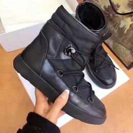 botas blancas de invierno para la piel de las mujeres Rebajas Nueva chaqueta de invierno Botas para mujer Blanco Negro Diseñador Forro de piel Botas cálidas Zapatos