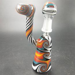 Florero soplado a mano online-Tubo de vidrio soplado a mano de gran tamaño vaso de vidrio vaso de precipitados penetrador de agua tubo de 18 mm conjunta