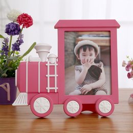 Wholesale Cartoons Baby Pictures - 7 inch Creative Cartoon Truck Train Photo Frame Baby Picture Frame kidz Gift Home Decor