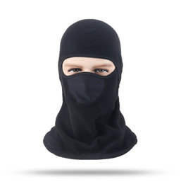 ride thermal masks Promo Codes - Unisex Winter Dust Face Mask Thermal Fleece Riding Hat Windbreak Hooded Masks Hat Cap Windproof Protection for Bicycle Snowboard