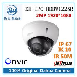 Wholesale Dome Ir Cameras - Original Dahua DH-IPC-HDBW1225R Full HD 2MP Network Vandal-proof Dome IP Camera IR distance 50m Support Onvif IPC-HDBW1225R