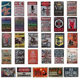 royaume-uni voitures Promotion Garage Home Wall Décoration Art Affiche Vintage Enseignes En Métal Rétro En Métal Signe Peinture Décor Le Mur Mélange de dessins