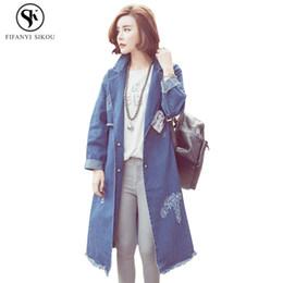 casual mäntel für damen Rabatt Casaco Feminino Korean Denim Trenchcoat Frauen Sobretudo Street Style Schlank Langen Mantel Weiblichen Mantel Casual Trench Damen LP228