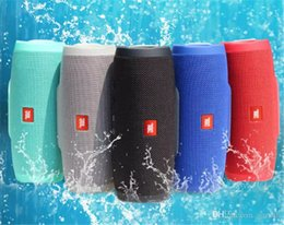 Wholesale Dhl Speakers - Hot Charge 3 Bluetooth Speaker Portable Wireless Speakers Outdoor Waterproof Subwoofer Powerbank 1200mAh Battery Charge3 DHL