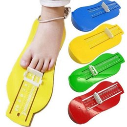 Wholesale Feet Tv - 2018 Baby Foot Shoe Size Measure Tool Device Cartoon Ruler Kid Children's Toys Developmental Funny Novelty Interesting Toys Gift