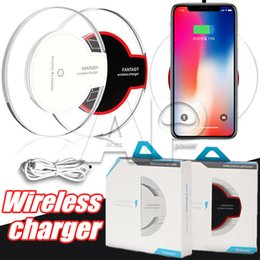 Wholesale Package Receivers - Wireless Charger Iphone X 10 8 Plus Charger Charging Pad Receiver Home Wireless Fast Charger For SAMSUNG Galaxy S8 Note8 Wih Retail Package