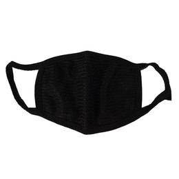 cotton masks Coupons - 500pcs Black Cotton Mouth Mask Cotton Anti Dust Protective Double Kpop Mask Washable Many Times Using Masks