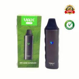 Vax vape en Ligne-VAX AIR Dry Herb Starter Kit vaporisateur Herbal Vape Pen Portable 3000mAh Batterie WAX Mini Airzer Elite e cigarette mod