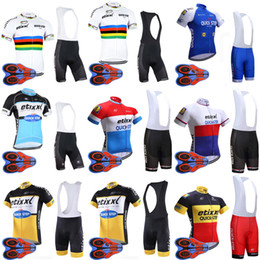 Wholesale quick step bib - Summer QUICK STEP team Cycling Short Sleeves jersey (bib) shorts sets new high quality Ropa Ciclismo outdoor mountain bike sportwear E1505