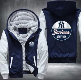2019 new york sweatshirts 2018 NY New York Yankee Sweatshirt warme Fleece Verdicken Jacke Reißverschluss Mantel Hoodies Sweatshirts aktuelle Jacke günstig new york sweatshirts