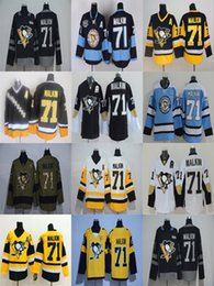 Wholesale Ice Outlet - 2017 Stanley Cup Final Champion Patch Factory Outlet Mens Pittsburgh Penguins 71 Evgeni Malkin Home Away Alternate Cheap Ice Hockey Jerseys