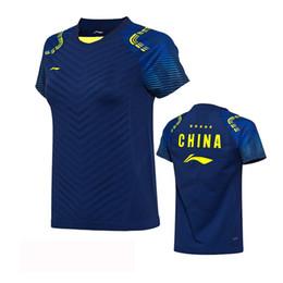 Deutschland Li Ning Badminton Shirt Kleidung, NEUE Männer Frauen T-Shirts, Polyester schnell trocknend T-Shirt, Futter Badminton T-Shirts, Atmungsaktiv Versorgung
