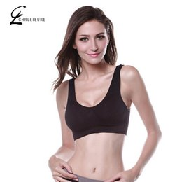 Wholesale Ruched Bra - CHRLEISURE S-3XL 7 Color Women Push Up Bra Fashion Wire Free Candy Color No-wire Rims Workout Qucik Dry Stretch Seamless Tank