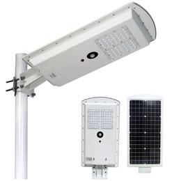 Wholesale Integrated Solar - 30W 40W solar panel LED street light PIR sensor photocontrol integrated all In One waterproof IP65 15W 20W 50W 60W 80W