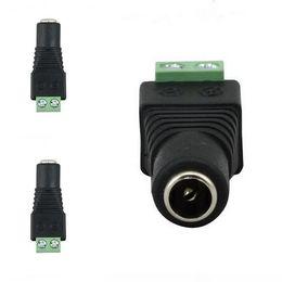 2019 adapterkabel gleichstrom 2,1 mm x 5,5 mm DC Power Weiblich Männlich Jack Adapter Kabelstecker Für CCTV / 5050 3528 Led-streifen Licht rabatt adapterkabel gleichstrom