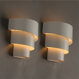 bedside wall light iron Promo Codes - Modern Fashion Iron Wall Lights Bedside Lamp Bedroom Fitting Lighting For Home stairs aisle Balcony bedroom AC110-240V