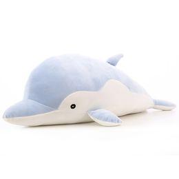 Wholesale Plush Toys Dolphin - 50 70cm Dolphin Plush Doll Cartoon Plush Toys Dolphin Doll Soft Throw Pillow Toys Cushion for Children Birthday Gift VE0477