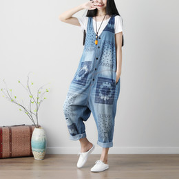 Wholesale jeans rompers for women - England Style Denim Overalls for Women Plus Size High Waist Jeans Woman 2018 Autumn Winter Jean Femme Rompers Womens Jumpsuit
