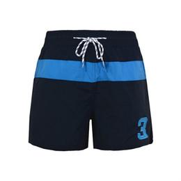 Numero de polo online-2019 Mens Number 3 Shorts polo de verano Surf de playa Nadar Deporte Traje de baño Bañadores Gimnasia Bermudas de baloncesto M-XXL