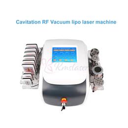 Diodo a vuoto di cavitazione rf online-6 in 1 ultrasuoni 40Khz cavitazione Vacuum RF liposuzione laser lipo multipolare RF a diodi laser lipolaser anti invecchiamento macchina di ringiovanimento della pelle