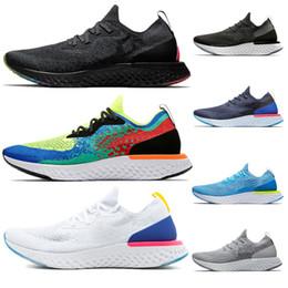 the best attitude 09b25 ce663 zapatos cómodos para hombre Rebajas Nuevo Platino True White Epic React Zapatos  para correr verde oliva
