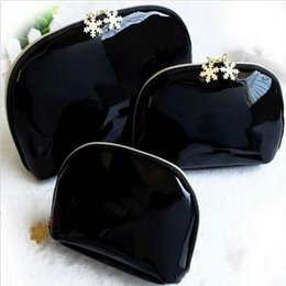 Wholesale vip kit - Favourite NEW! Snowflake 3pcs Famous Brand Cosmetic Case Luxury Makeup Organizer Bag Beauty Toiletry Wash Bag Clutch Purse Tote VIP Gift