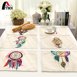 table cloths prices Coupons - 42*32cm Dreamcatcher Printed Cloth Table Napkins Wedding Party Dinner Accessories Wholesale Price Chinese Supplier 2017
