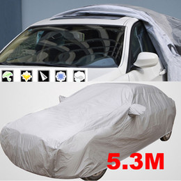 Wholesale Uv Cars - VODOOL 1pc 5.3m Indoor Outdoor Full Car Cover Sun UV Snow Dust Resistant Protection Car Covers Exterior Accessories High Quality