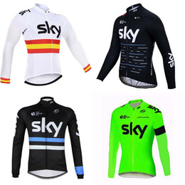 Wholesale Red Sky Jersey - 2018 SKY Team Men's Cycling Jerseys Bicycle Clothing Men Bicycle Clothing Bike Clothes Bike Jersey C1719