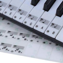 88 клавиш фортепиано Скидка Прозрачная 49 61 ключ электронная клавиатура 88 ключ фортепиано нотный стикер для белых клавиш