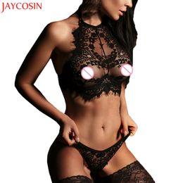 Wholesale flower applique bra - JAYCOIN 2017 Fashion Women Sexy Lingerie Lace Flowers Push Up Top Bra Pants Underwear Set Oct2730