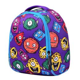 Sacs à dos imperméables mignons en Ligne-Cute Cartoon Monster Enfants Neoprene Backpack Étanche Enfant 3D Sacs D'école Maternelle Sac Filles Garçon Petit Cartable Mochila