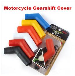 partes de honda envío gratis Rebajas Mix Enviar Gearshift Case Gear Cubierta de transmisión Shift Level Slab Plástico suave Anti Dust Wear para motocicleta Moto Moto Accesorio