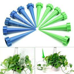 Wholesale Bottles Plastic Drip - 12 Plant Flower Water Control Drip Cone Spike Waterer Bottle Irrigation System good quality