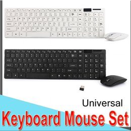 keyboard ios android Coupons - 2.4G USB Wireless Keyboard Mouse Set Combos 1600DPI Optical Mouse Non-Noise Ultra-Slim Mini Universal Keyboard IOS Android Laptop 50 packs